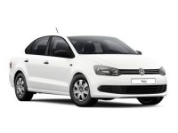Накладки на пороги Volkswagen Polo Sedan