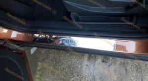 Накладки на пороги для Форд Экоспорт