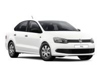 Накладка на задний бампер Volkswagen Polo Sedan