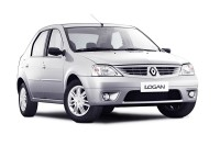 Накладка на задний бампер Renault Logan 1