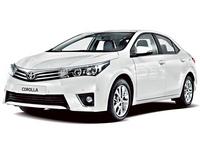 Накладка на задний бампер Toyota Corolla