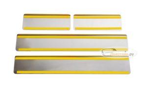 Накладки на пороги Kia Cerato 3