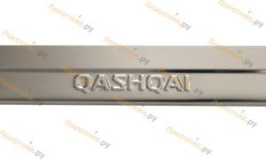 Ступенчатые накладки на пороги Nissan Qashqai