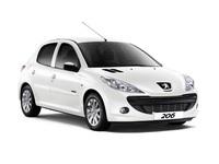 Накладки на пороги для Peugeot 206