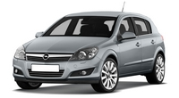 Накладка на задний бампер Opel Astra H Hatchback