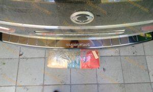 Накладка на задний бампер Саньенг Кайрон