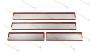 Накладки на пороги Аутлендер 3 рестайлинг