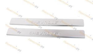 Накладки на пороги Chevrolet Spark
