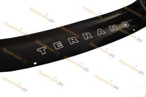 Дефлектор капота (мухобойка) Nissan Terrano