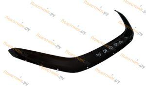Длинный дефлектор капота (мухобойка) Lada Vesta