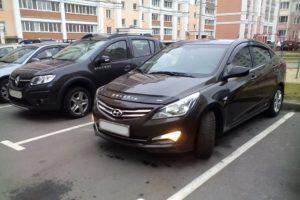 Дефлектор капота (мухобойка) Hyundai Solaris