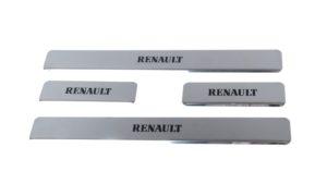 Накладки на пороги Renault Fluence