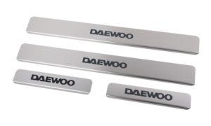 Накладки на пороги Daewoo Nexia