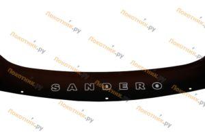 Дефлектор капота (мухобойка) Renault Sandero 1