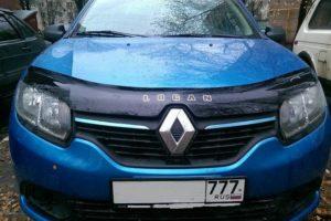 Дефлектор капота (мухобойка) Renault Logan